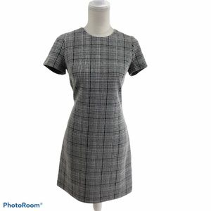 Calvin Klein black & white Plaid Dress Sz 6